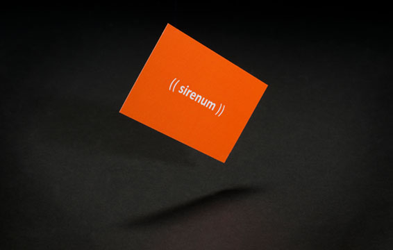 (( sirenum )) logo on business card designed by WillB