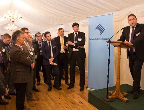 Who spoke at the 2017 RIA parliamentary reception?