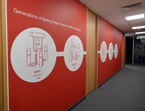 Work / Hitachi Nuclear Europe – office branding