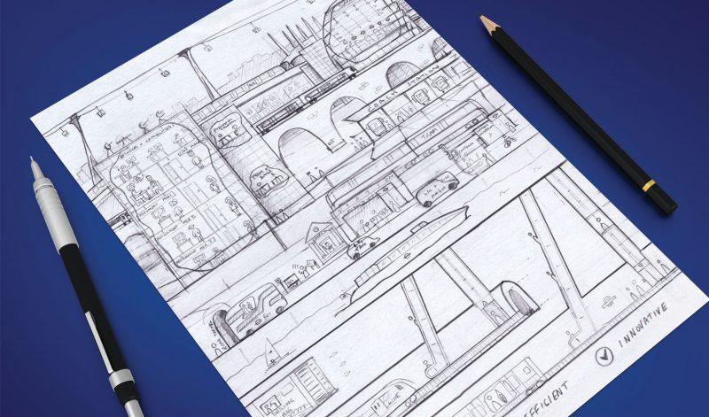 Pencil sketch of TfL transformation