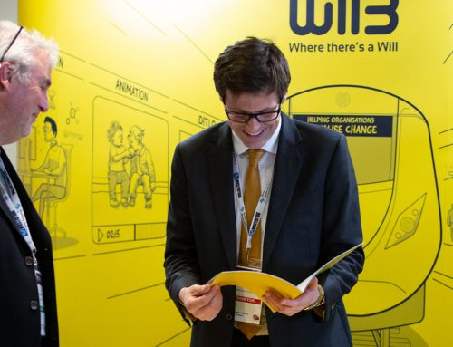 Why would WillB exhibit at the RIA innovation conference this year?